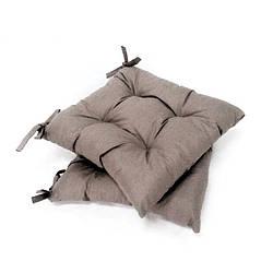 Подушка на стул серая Хамелеон  40*40 см