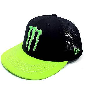 Бейсболка FULL CAP MONSTER черный+салатовый