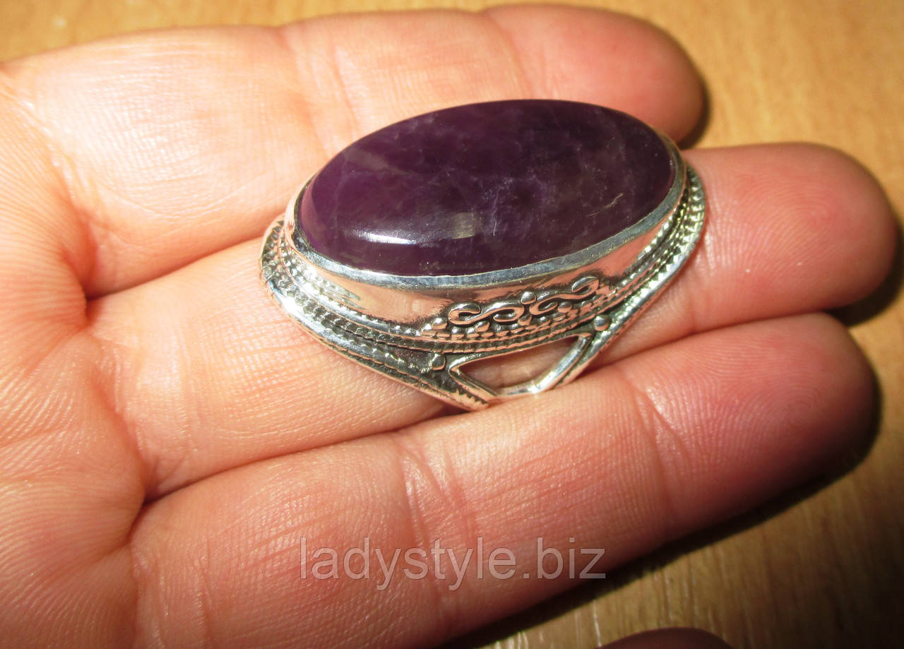 """Яскраве кільце з аметистом """"Падишах"""" , розмір 18.5 від Студії www.LadyStyle.Biz"""