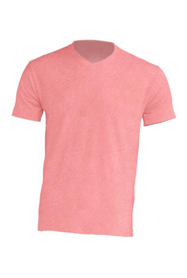 Мужская футболка JHK URBAN V-NECK цвет красный меланж (RDH)