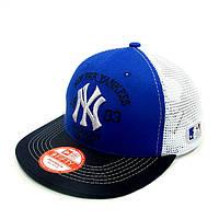 Бейсболка FULL CAP NEW YORK синий+т.синий