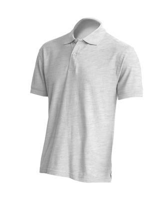 Мужская футболка-поло JHK POLO REGULAR MAN цвет светло-серый меланж (AS)