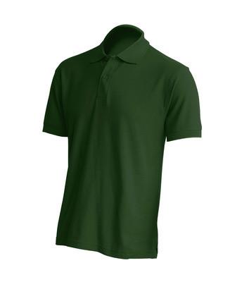 Мужская футболка-поло JHK PORA 210, цвет темно зеленый (BG)