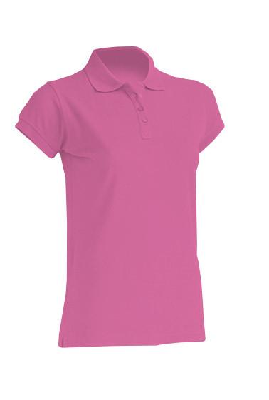 Женская футболка-поло JHK POLO REGULAR LADY цвет розовый (AL)
