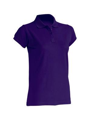Женская футболка-поло JHK POLO REGULAR LADY цвет фиолетовый (PU)