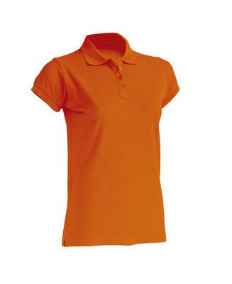 Женская футболка-поло JHK POLO REGULAR LADY цвет оранжевый (OR)