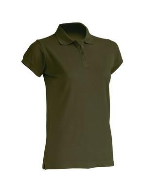 Женская футболка-поло JHK POLO REGULAR LADY цвет хаки (KH)