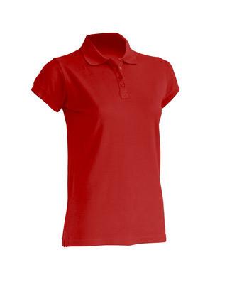 Женская футболка-поло JHK POLO REGULAR LADY цвет красный (RD)