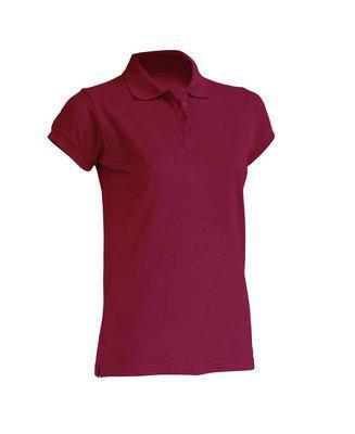 Женская футболка-поло JHK POLO REGULAR LADY цвет бордовый (BU)