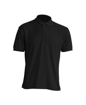 Мужская футболка-поло JHK POLO WORKER 210 цвет черный (BK)