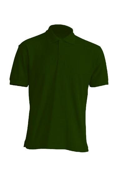 Мужская футболка-поло JHK POLO WORKER 210 цвет темно-зеленый (BG)