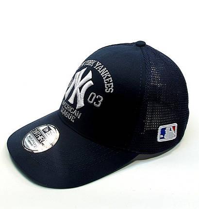 Бейсболка FULL CAP NEW YORK т.синий+белый, фото 2