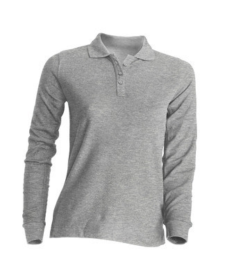 Женская футболка-поло JHK POLO REGULAR LADY LS цвет темно-серый меланж (GM)