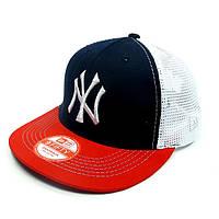 Бейсболка FULL CAP NEW YORK т.синий+красный