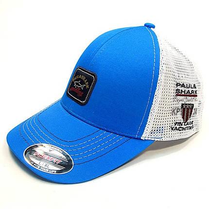 Бейсболка FULL CAP бел+голубой, фото 2