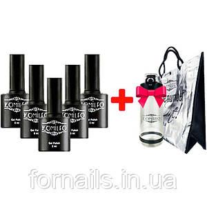 Акция! 14 гель-лаков Komilfo + подарок сумк а Komilfo и Komilfo Bottle, 800