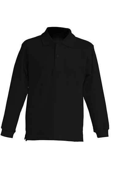 Детская футболка-поло с длинным рукавом JHK KID POLO LS цвет черный (BK)