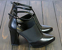 Черные женские туфли Fabio Monelli K321-X968A BL 35 23 см, фото 1
