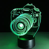 """3D Cветильник, Ночник, Лампа """"Фотоаппарат"""""""