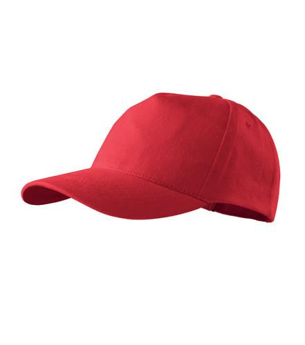 Кепка пятиклинка ADLER 5P цвет красный (07)