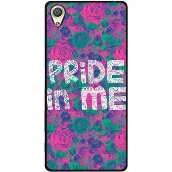 Силиконовый бампер для Sony Z1 L39h C6902 с рисунком Pride in me