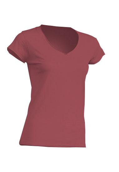 Женская футболка JHK SICILIA цвет темно-бордовый (CA)