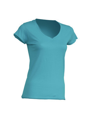 Женская футболка JHK SICILIA цвет бирюзовый (TU)