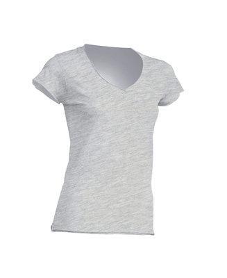 Женская футболка JHK SICILIA цвет светло-серый меланж (AS)
