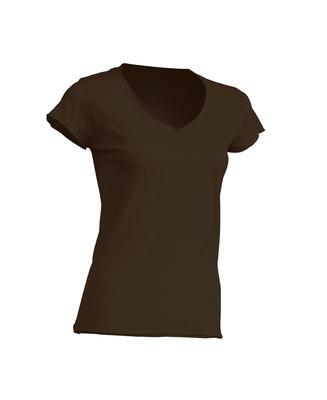 Женская футболка JHK SICILIA цвет коричневый (CH)