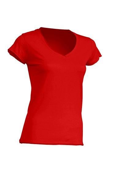 Женская футболка JHK SICILIA цвет красный (RD)