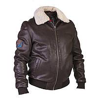 Летная куртка David Moore кожаная коричневая