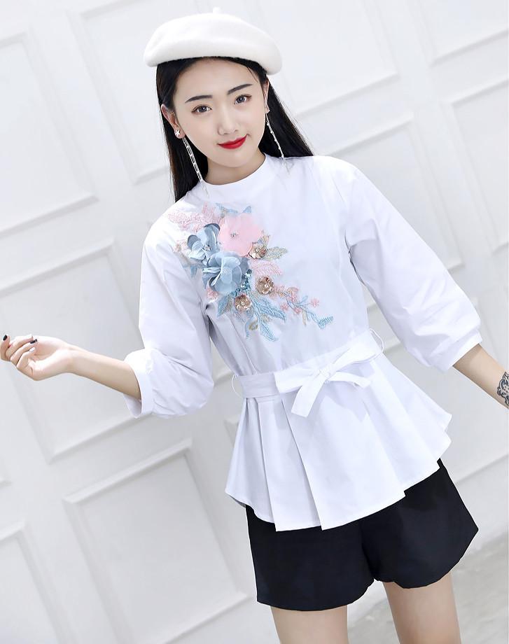 Молодежная рубашка с поясом 44-46 (в расцветках)