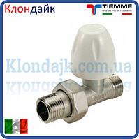Радиаторный кран верхний прямой TIEMME 1/2 НН