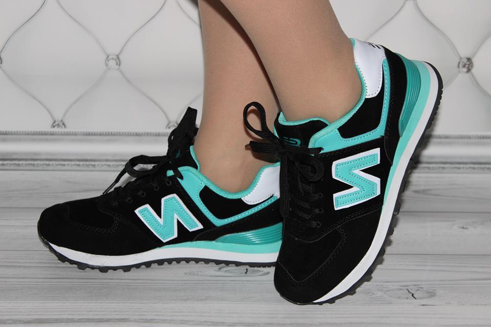 Женские кроссовки черного цвета в стиле New Balance(копия) размер 39