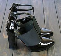 Черные лаковые туфли Fabio Monelli K321-X968AL BL 35 23 см, фото 1