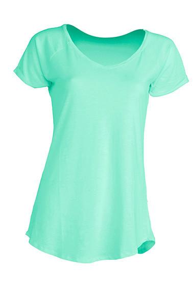 Модная женская футболка JHK Urban Slub Lady цвет светло-зеленый (MG)