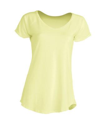 Модная женская футболка JHK Urban Slub Lady цвет светло-желтый неон (LYN)