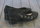 Женские замшевые туфли Fabio Monelli S369-24-RO55AK BL 35 23 см, фото 3