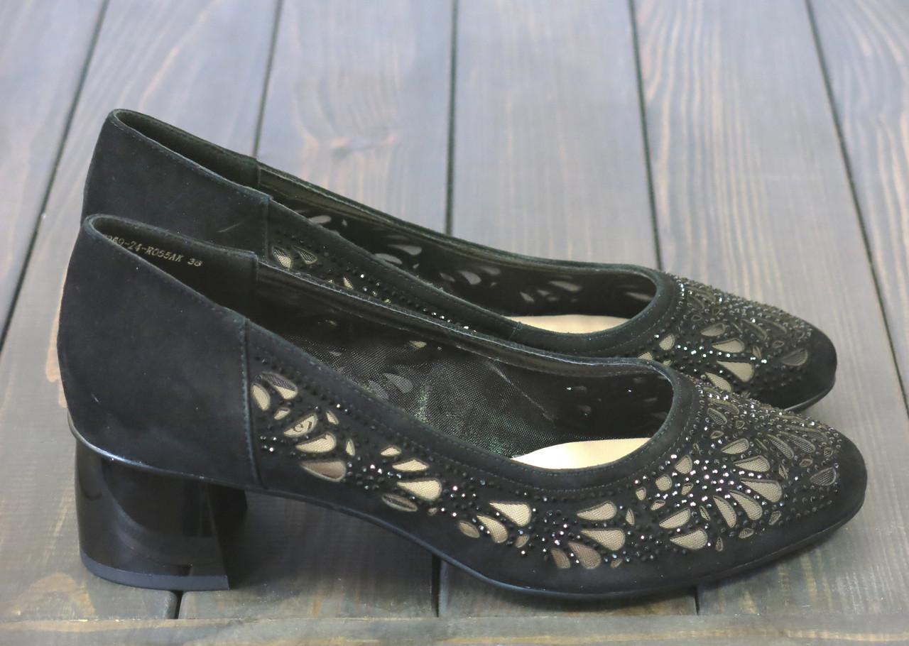 Женские замшевые туфли Fabio Monelli S369-24-RO55AK BL 35 23 см
