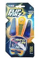 🔝 Светящийся нож бабочка, Flip Finz (Флип Финз), игрушечный - оранжевый/синий, с доставкой по Киеву и Украине | 🎁%🚚