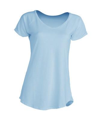 Модная женская футболка JHK Urban Slub Lady цвет голубой неон (SKN)