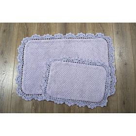 Набор ковриков Serra mor сиреневый 60*90+40*60 (Irya)
