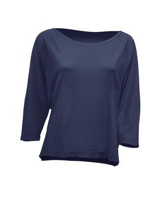 Модная женская футболка JHK MALDIVAS цвет темно-синий (DN)