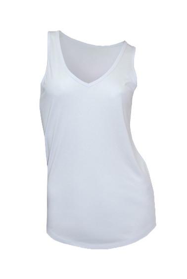 Женская майка под сублимацию JHK V-neck SUBLI Top цвет белый (WHSB)