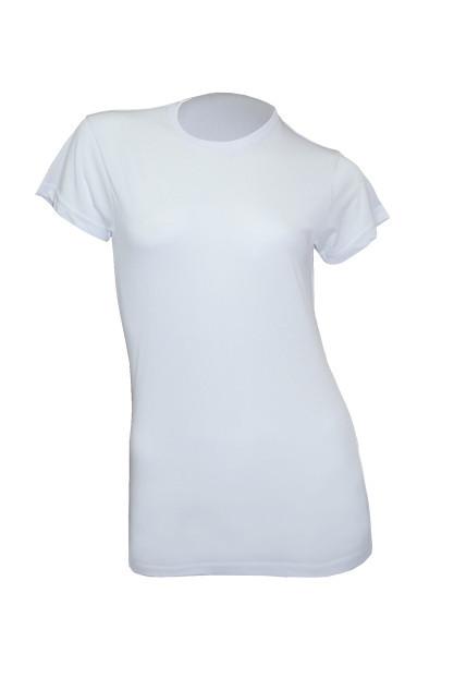 Женская футболка под сублимацию JHK SUBLI Lady, цвет белый (WHSB)