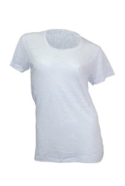 Женская футболка под сублимацию JHK SUBLI Burn Out, цвет белый (WHSB)