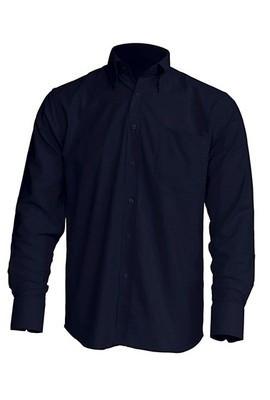Рубашка мужская с длинным рукавом JHK SHRA POP LS, цвет темно синий (NY)