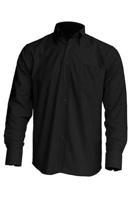Рубашка мужская с длинным рукавом JHK SHRA POP LS, цвет черный (BK)
