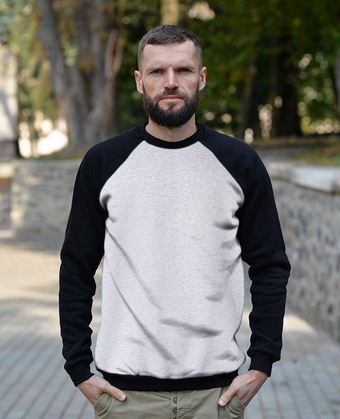 Реглан унисекс STYLE (Украина) цвет светло-серый меланж (AS)