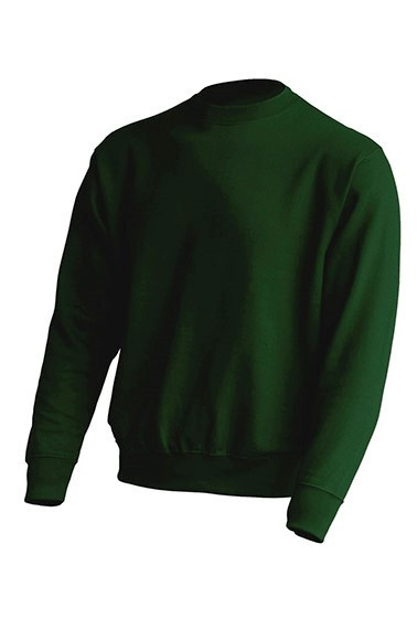 Толстовка унисекс JHK SWEATSHIRT UNISEX цвет темно-зеленый (BG)